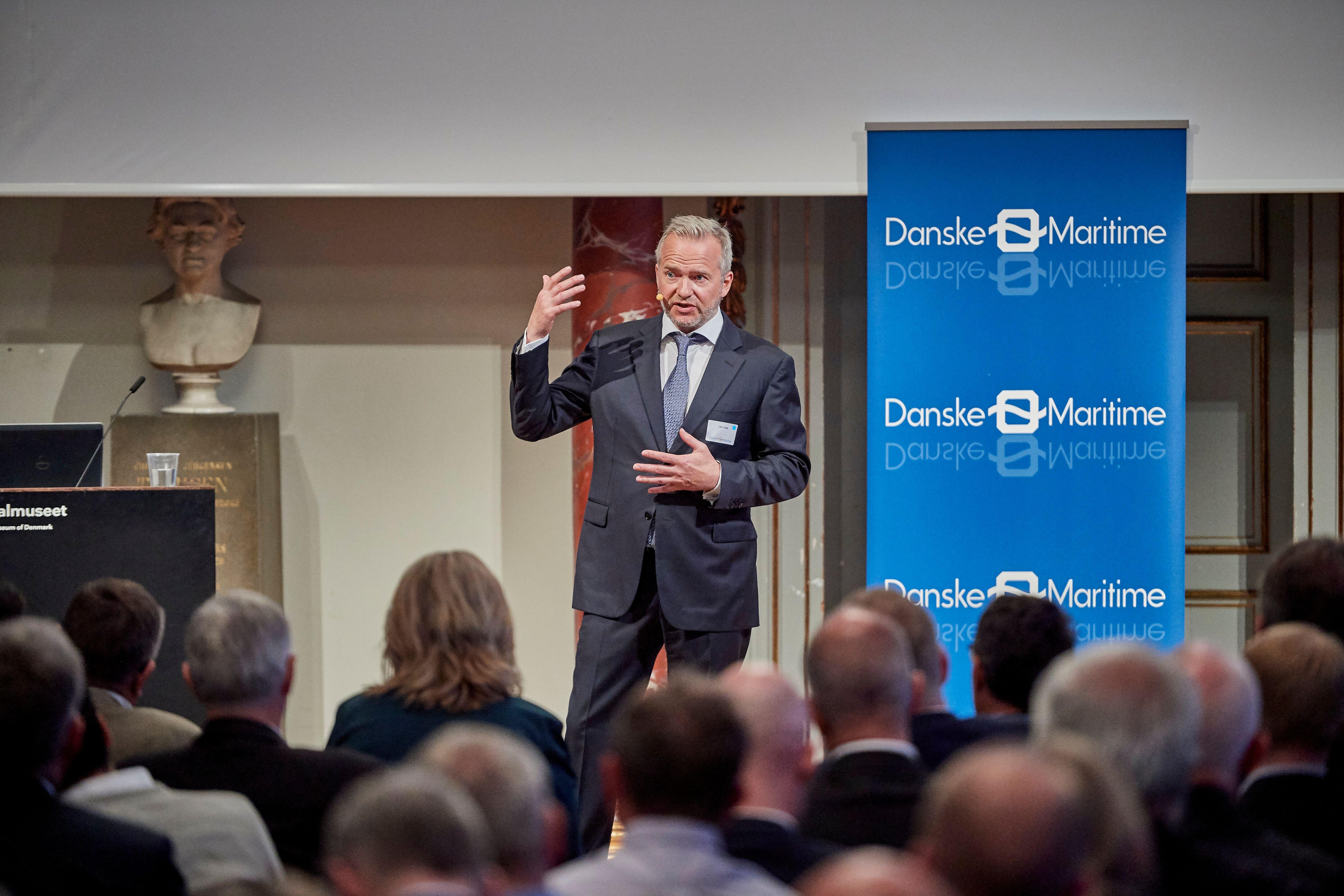 Serieiværksætter Lars Tvede taler ved Danske Maritimes jubilæum