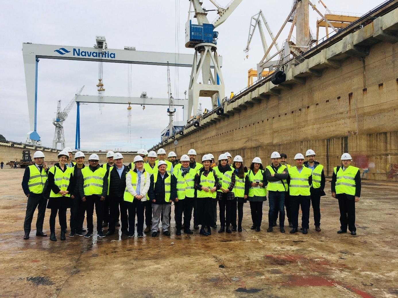 USWE visit to Navantia Shipyard